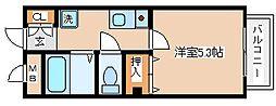兵庫県神戸市長田区蓮宮通2丁目の賃貸アパートの間取り
