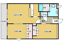 エスポワール古室[2階]の間取り