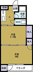 田中町住宅[243号室]の間取り