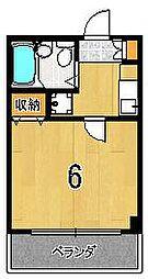 モーリストップハイツ[402号室]の間取り