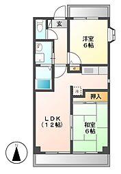 愛知県名古屋市昭和区広見町4丁目の賃貸マンションの間取り