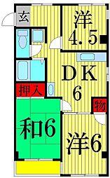 西綾瀬プラザ[2階]の間取り