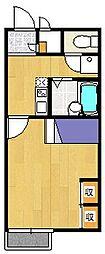 レオパレスCO OASIS[209号室]の間取り