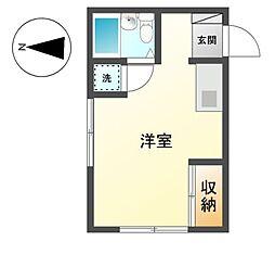 愛知県名古屋市天白区西入町の賃貸アパートの間取り