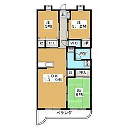 シャンテロード 富士見[2階]の間取り