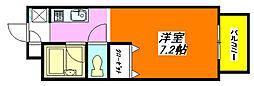 プロパティ中小阪A棟 102号室[1階]の間取り