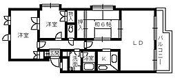 旭ハイム浜寺[2階]の間取り