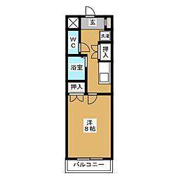 サンインクリース吉塚[3階]の間取り
