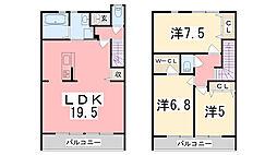 [テラスハウス] 兵庫県姫路市飾東町佐良和 の賃貸【兵庫県 / 姫路市】の間取り