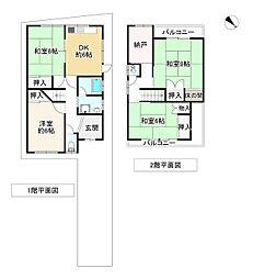 JR阪和線 我孫子町駅 徒歩4分 4SDKの間取り