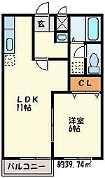 リバーサイドI[2階]の間取り