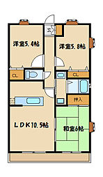 第5旭マンション[2階]の間取り