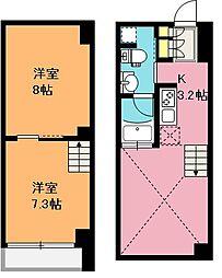[テラスハウス] 埼玉県さいたま市浦和区東仲町 の賃貸【埼玉県 / さいたま市浦和区】の間取り