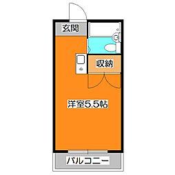 東京都東久留米市前沢5の賃貸マンションの間取り