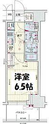 プレサンス梅田北ディア 6階1Kの間取り
