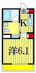 千葉県船橋市駿河台2丁目の賃貸アパートの間取り
