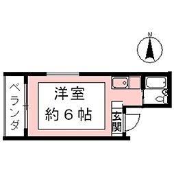 アメニティT・O−II[2W号室]の間取り