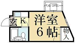 コーポイケオ[1階]の間取り