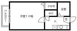 カムアイズ宮ノ陣[102号室]の間取り