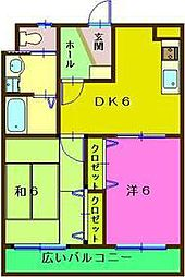 リュウセン五井[107号室]の間取り
