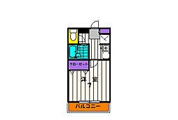ビューテラス夏目[1階]の間取り