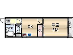 コーポ平尾[3階]の間取り