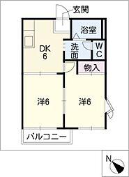 ウィング21[1階]の間取り