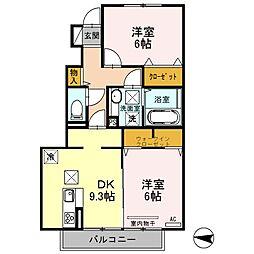 ルピナアサイ[1階]の間取り