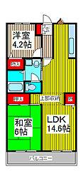 ルミエール松原[3階]の間取り