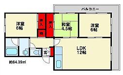 ディナスティ[2階]の間取り