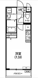東京都豊島区西池袋4丁目の賃貸アパートの間取り