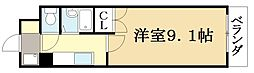 ニュードミトリーKATO[4階]の間取り