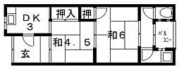 白井平屋 東棟[2号室号室]の間取り