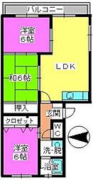 清原レジデンス[1階]の間取り