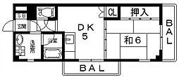サンルミネ館[407号室号室]の間取り