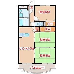 ドリームハウス[103号室]の間取り