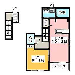 コートハウス安塚II[2階]の間取り
