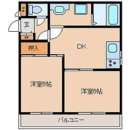 兵庫県尼崎市菜切山町の賃貸マンションの間取り