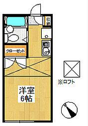 ピュア戸塚[2階]の間取り