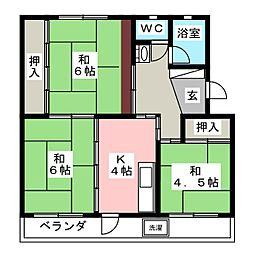 第1中野コーポ[3階]の間取り