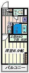 埼玉県さいたま市北区北区宮原町1丁目の賃貸アパートの間取り