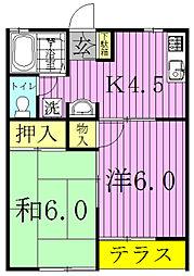 プロスペール[1階]の間取り