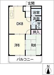 フォートレス21 B棟[2階]の間取り