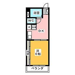 コアパレス安西[4階]の間取り