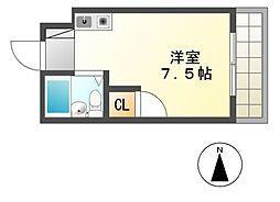 ハイツ住吉II[3階]の間取り