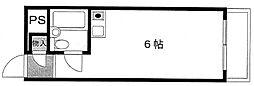 スカイコート新川崎[4階]の間取り