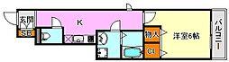 ジェネシス板宿II[1階]の間取り
