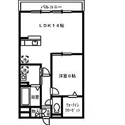 リバーパーク[1階]の間取り
