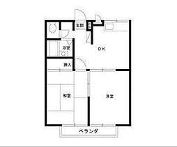 神奈川県相模原市中央区相模原8丁目の賃貸アパートの間取り