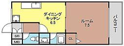 アニマート姫島[603号号室]の間取り